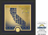 San Diego Chargers State Bronze Coin Photo Mint