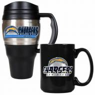 San Diego Chargers Travel Mug & Coffee Mug Set