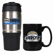 San Diego Chargers Travel Tumbler & Coffee Mug Set