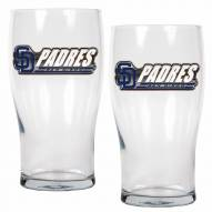 San Diego Padres 20 oz. Pub Glass - Set of 2