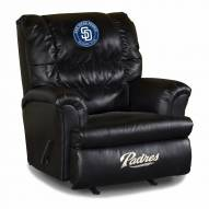 San Diego Padres Big Daddy Leather Recliner
