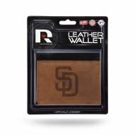 San Diego Padres Brown Leather Trifold Wallet