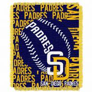 San Diego Padres Double Play Jacquard Throw Blanket