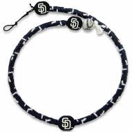 San Diego Padres Frozen Rope Color Baseball Necklace