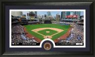 San Diego Padres Infield Dirt Coin Panoramic Photo Mint