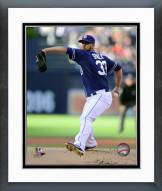 San Diego Padres James Shields 2015 Action Framed Photo