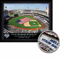 San Diego Padres Personalized Framed Stadium Print