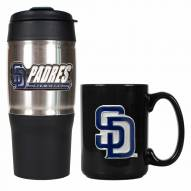 San Diego Padres Travel Tumbler & Coffee Mug Set
