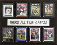 "San Francisco 49ers 12"" x 15"" All-Time Greats Plaque"