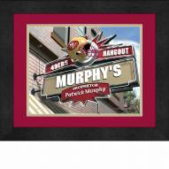 San Francisco 49ers 13 x 16 Personalized Framed Sports Pub Print