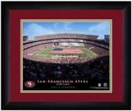 San Francisco 49ers 13 x 16 Personalized Framed Stadium Print