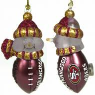 San Francisco 49ers All-Star Light Up Snowman Ornament