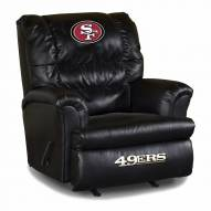 San Francisco 49ers Big Daddy Leather Recliner