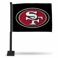 San Francisco 49ers Car Flag with Black Pole