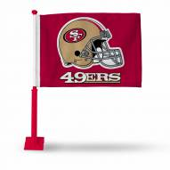 San Francisco 49ers Car Flag with Red Pole