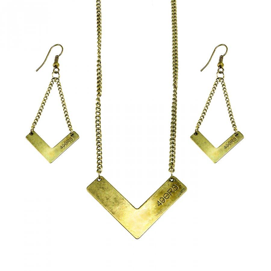 San Francisco 49ers Chevron Jewelry Set