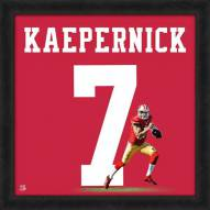 San Francisco 49ers Colin Kaepernick Uniframe Framed Jersey Photo