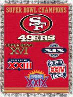 San Francisco 49ers Commemorative Throw Blanket