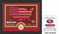 San Francisco 49ers Country Bronze Coin Photo Mint