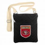 San Francisco 49ers Crest Chevron Crossbody Bag