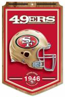 "San Francisco 49ers ""Established"" Wood Sign"