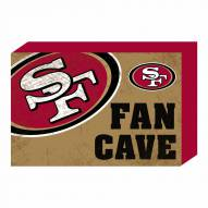 San Francisco 49ers Fan Cave Wooden Plock