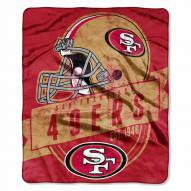 San Francisco 49ers Grand Stand Raschel Throw Blanket