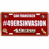 San Francisco 49ers Hashtag License Plate