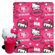 San Francisco 49ers Hello Kitty Blanket & Pillow