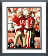 San Francisco 49ers Jerry Rice Joe Montana Framed Photo