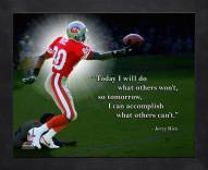 San Francisco 49ers Jerry Rice Framed Pro Quote