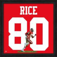 San Francisco 49ers Jerry Rice Uniframe Framed Jersey Photo