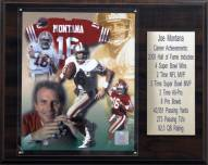 "San Francisco 49ers Joe Montana 12"" x 15"" Career Stat Plaque"
