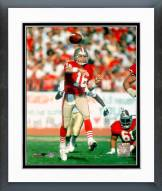 San Francisco 49ers Joe Montana - #17 Action Framed Photo