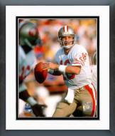 San Francisco 49ers Joe Montana - #4 Looking Framed Photo