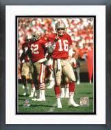 San Francisco 49ers Joe Montana - #5 One finger Framed Photo