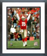 San Francisco 49ers Joe Montana Celebrating touchdown #2 Framed Photo