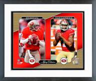San Francisco 49ers Joe Montana & Colin Kaepernick Legacy Collection Framed Photo