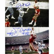 "San Francisco 49ers Joe Montana & Dwight Clark ""The Catch"" Metallic Signed 16"" x 20"" Photo"