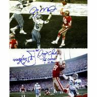 "San Francisco 49ers Joe Montana & Dwight Clark ""The Catch"" w/ ""Drawn Play"" Signed 16"" x 20"" Photo"