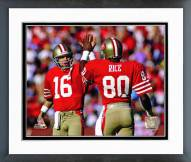San Francisco 49ers Joe Montana & Jerry Rice 1986 Actiion Framed Photo