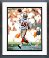 San Francisco 49ers Joe Montana - passing Framed Photo