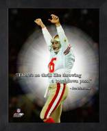 San Francisco 49ers Joe Montana Framed Pro Quote