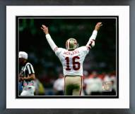 San Francisco 49ers Joe Montana Super Bowl XXIV 1990 Action Framed Photo