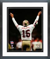 San Francisco 49ers Joe Montana Super Bowl XXIV Action 1990 Framed Photo