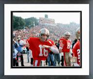 San Francisco 49ers Joe Montana SuperBowl XIX 1985 Framed Photo