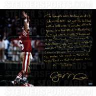 """San Francisco 49ers Joe Montana The Drive Story Signed 16"""" x 20"""" Photo"""