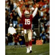 "San Francisco 49ers Joe Montana Touchdown Signal Signed 16"" x 20"" Photo"