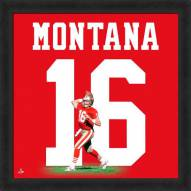 San Francisco 49ers Joe Montana Uniframe Framed Jersey Photo