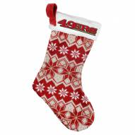 San Francisco 49ers Knit Christmas Stocking